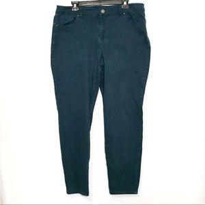 Style & Co. Denim Curvy Skinny Green Jeans
